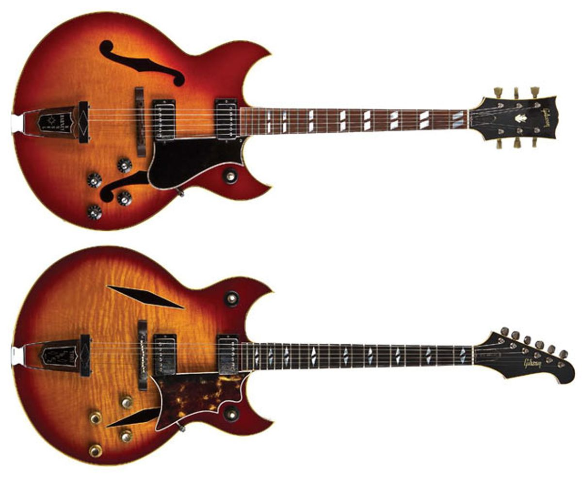 1967 Gibson Trini Lopez Deluxe and 1968 Gibson Barney Kessel Regular