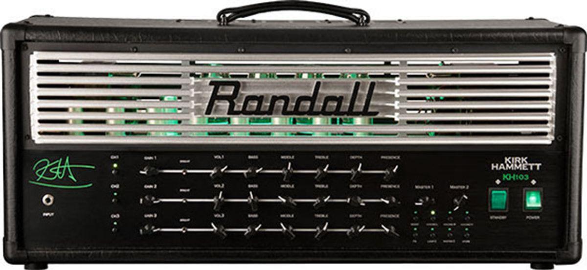 Randall Amplifiers Introduces the KH103 Kirk Hammett Signature Amplifier