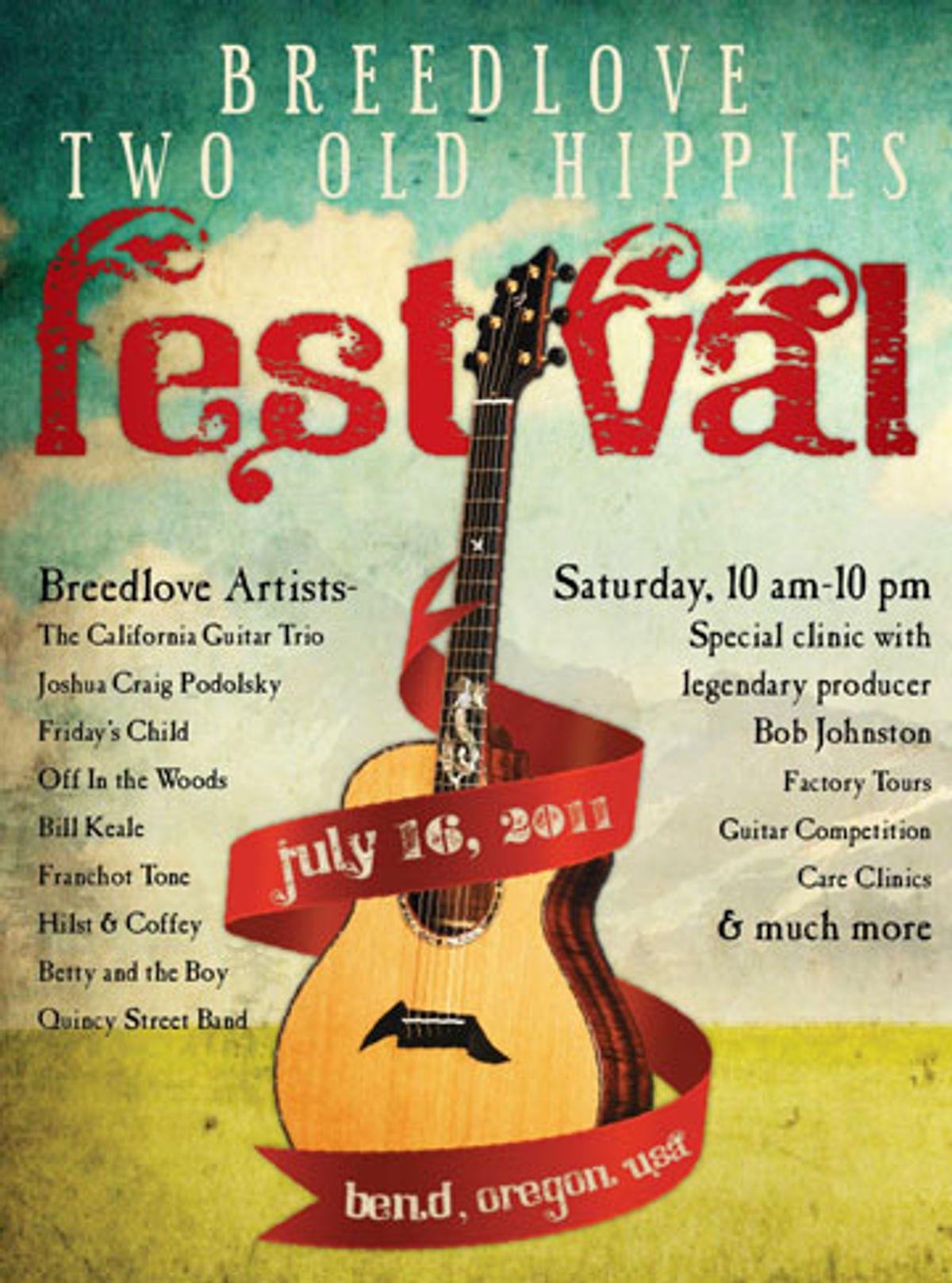 Breedlove Announces 2011 Breedlove Festival