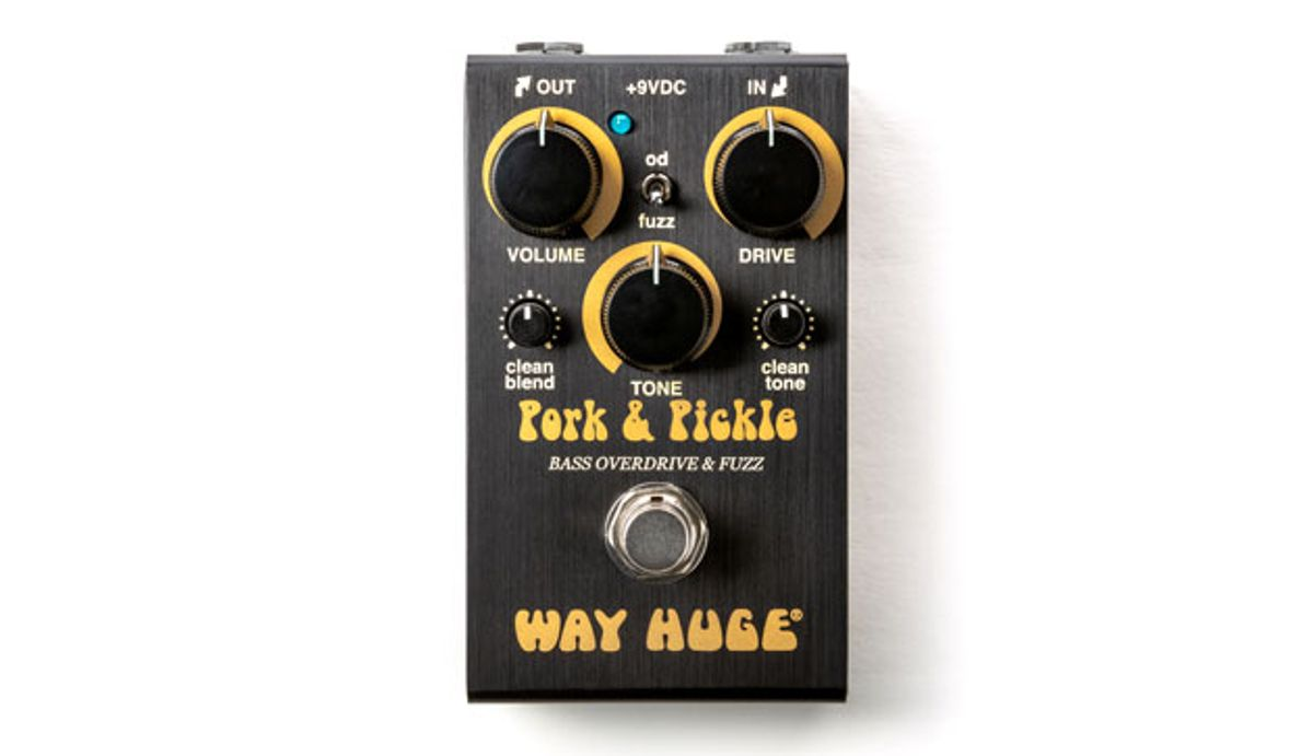 Way Huge Unveils the Smalls Pork & Pickle Bass Overdrive & Fuzz