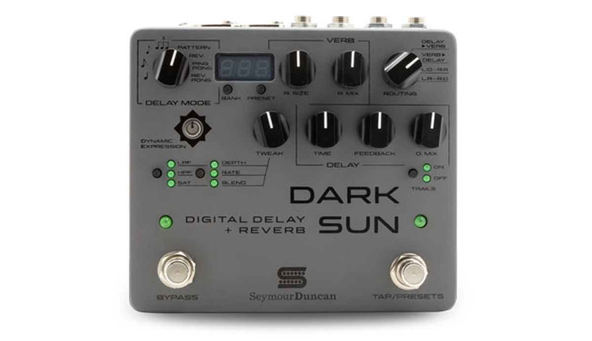 Seymour Duncan Releases the Dark Sun Digital Delay and Reverb