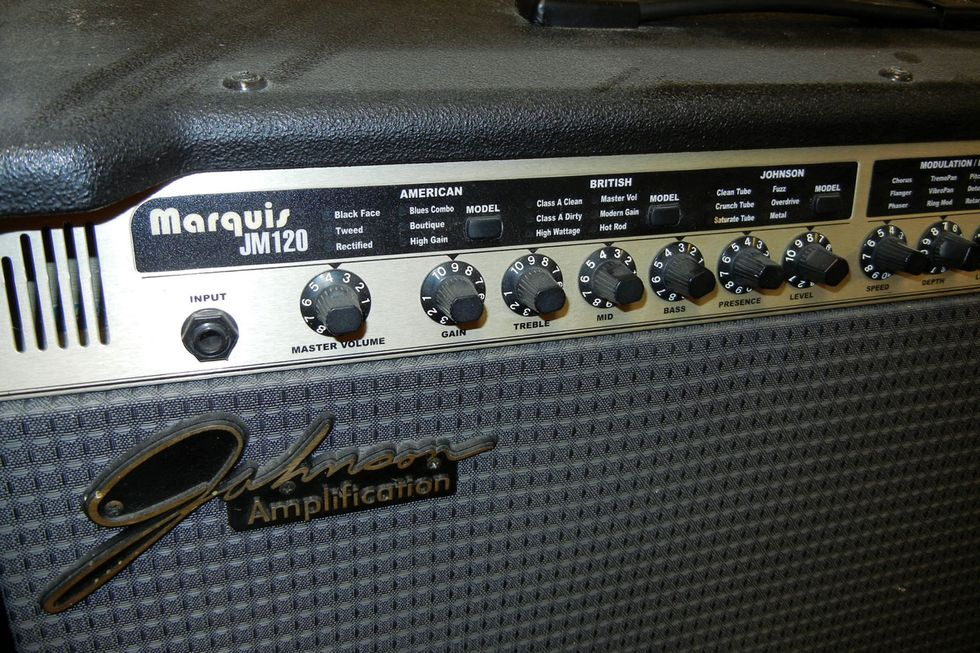 Trash Or Treasure Johnson Marquis Jm120 Stereo Premier Guitar 32 Watt Amplifier In Addition To Onboard Modulation Pitch Delay And Reverb Effects 27 Factory User Presets The Featured 18 Different Amp