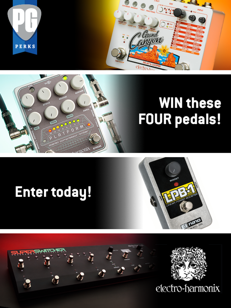EHX Four Pedal Giveaway