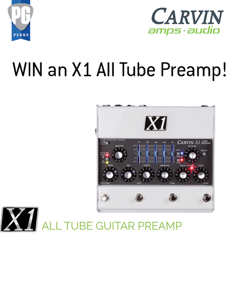 You could win an X1 from Carvin!