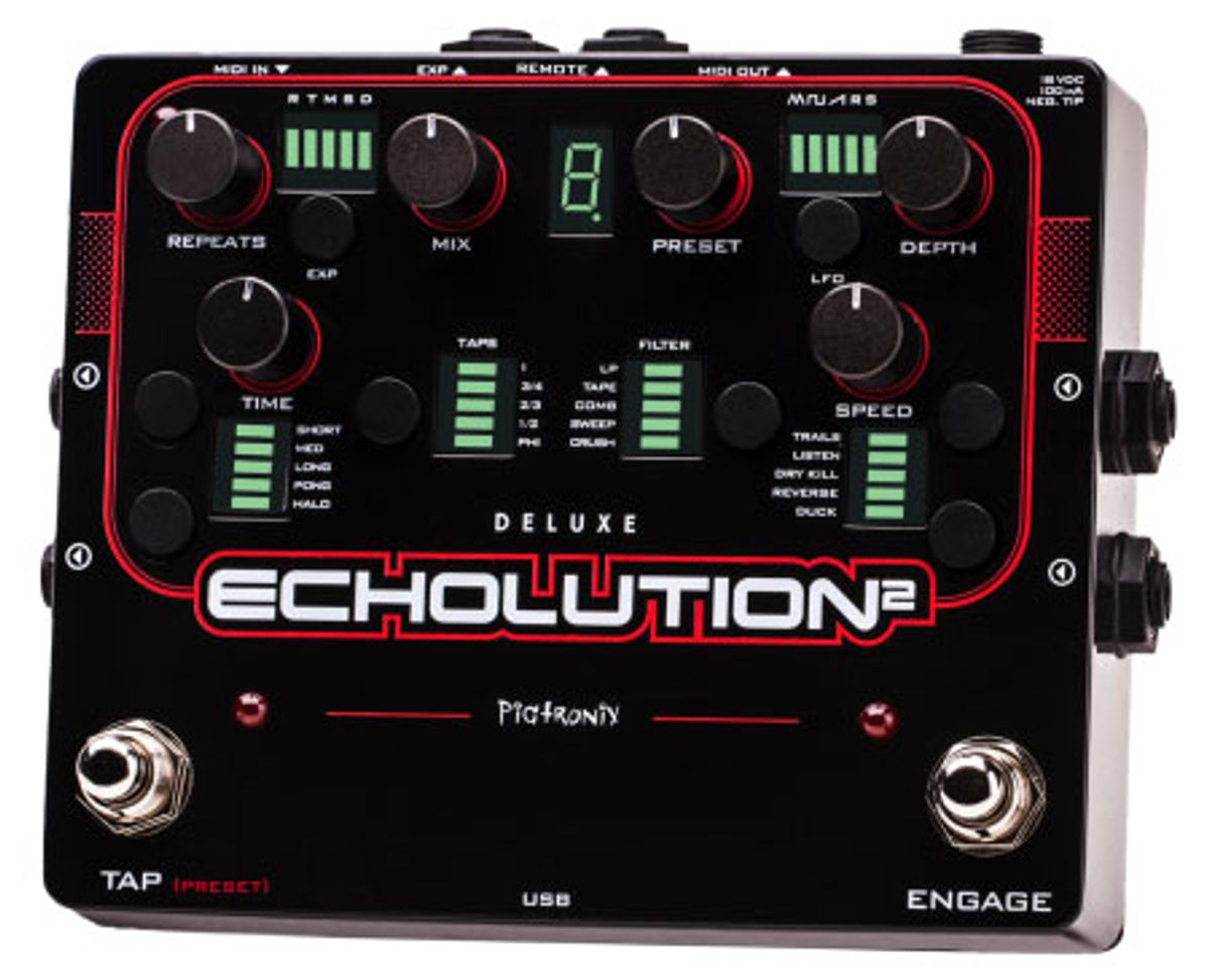 Pigtronix Releases the Echolution 2 and Echolution 2 Deluxe