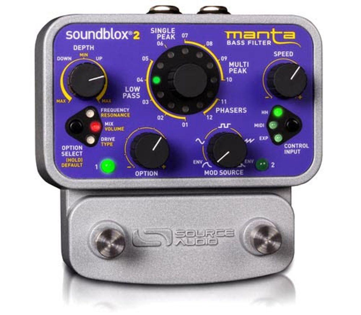 Source Audio Introduces the Soundblox 2 Manta Bass Filter