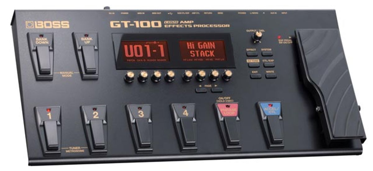 BOSS Introduces the New GT-100 Amp Effects Processor