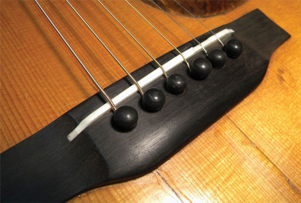 Guitar Shop 101 How To Carve An Open Slot Saddle Premier Guitar