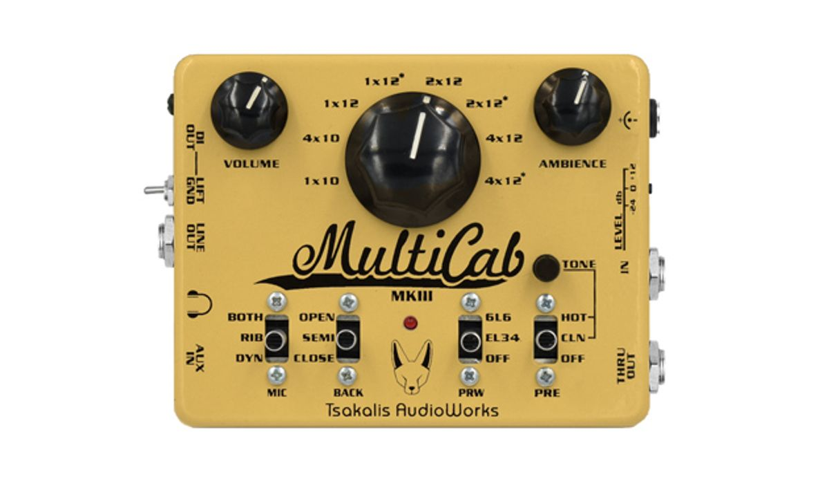 Tsakalis AudioWorks Introduces the MultiCab MK3 Cabinet Simulation & PreAmp