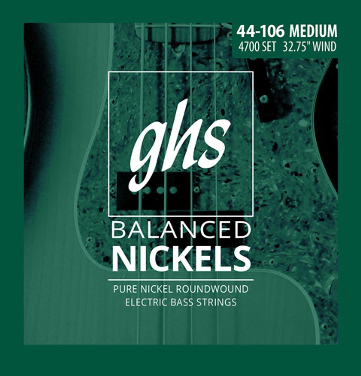 GHS Unveils Balanced Nickel Bass Strings