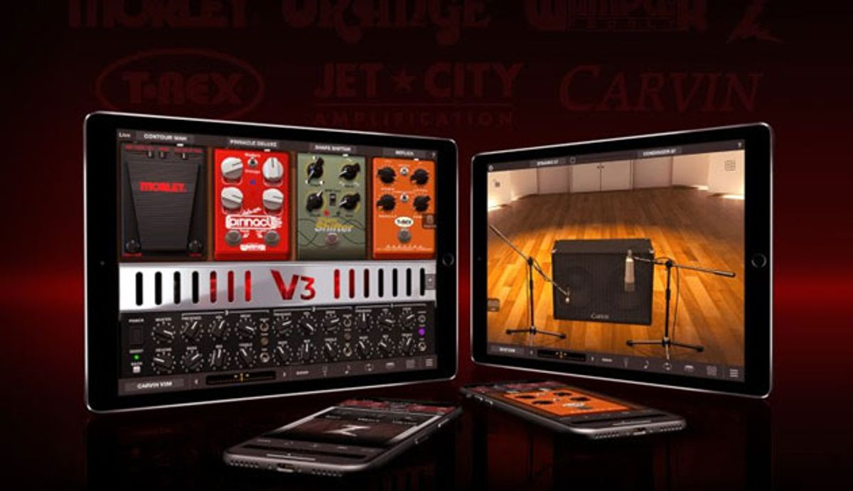 IK Multimedia Adds 10 Branded Amp and Stompbox Models to AmpliTube for iPhone and iPad