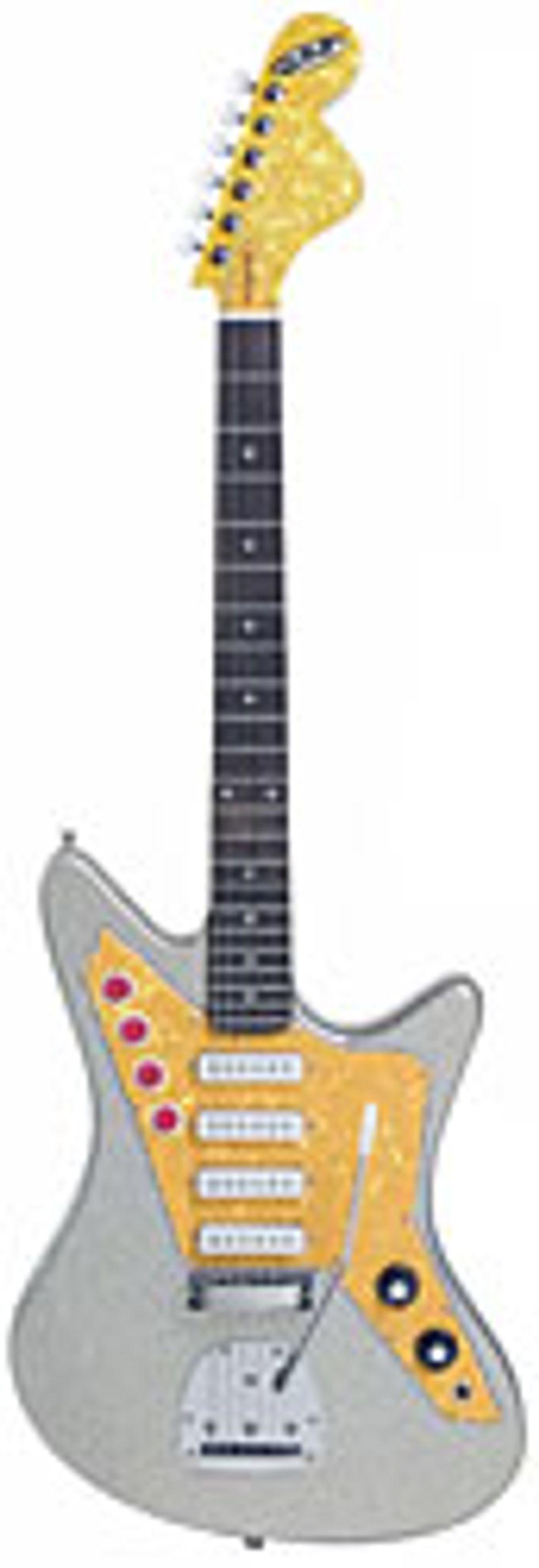 DiPinto Galaxie 4 Los Straitjackets Guitar