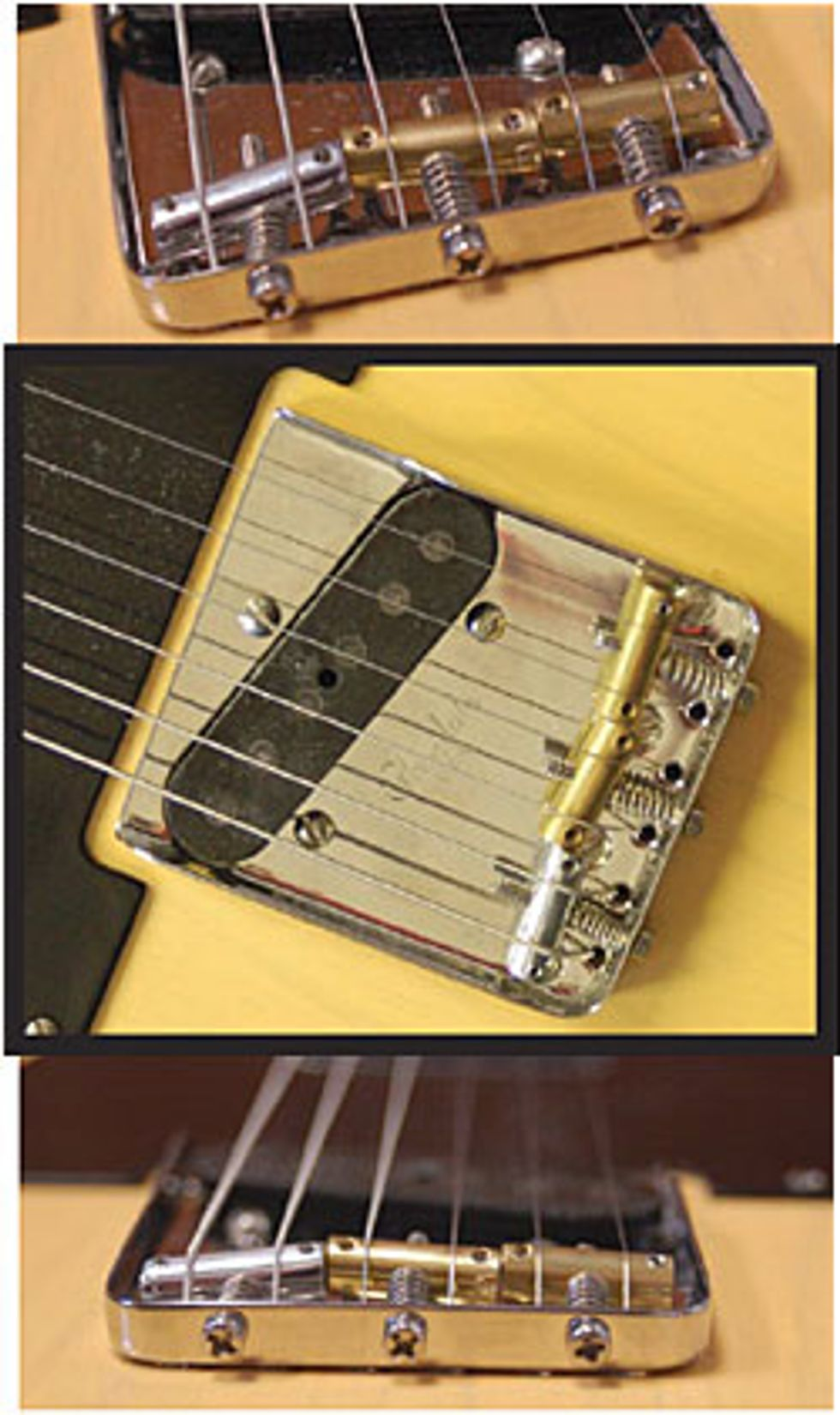Glendale Non-Magnetic Stainless Bridge & Twang Saddles