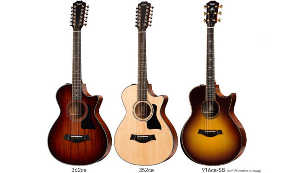 Taylor Guitars Debuts New 12-Strings, Florentine-Cutaway Grand Symphony Models, and Tobacco Sunburst Options