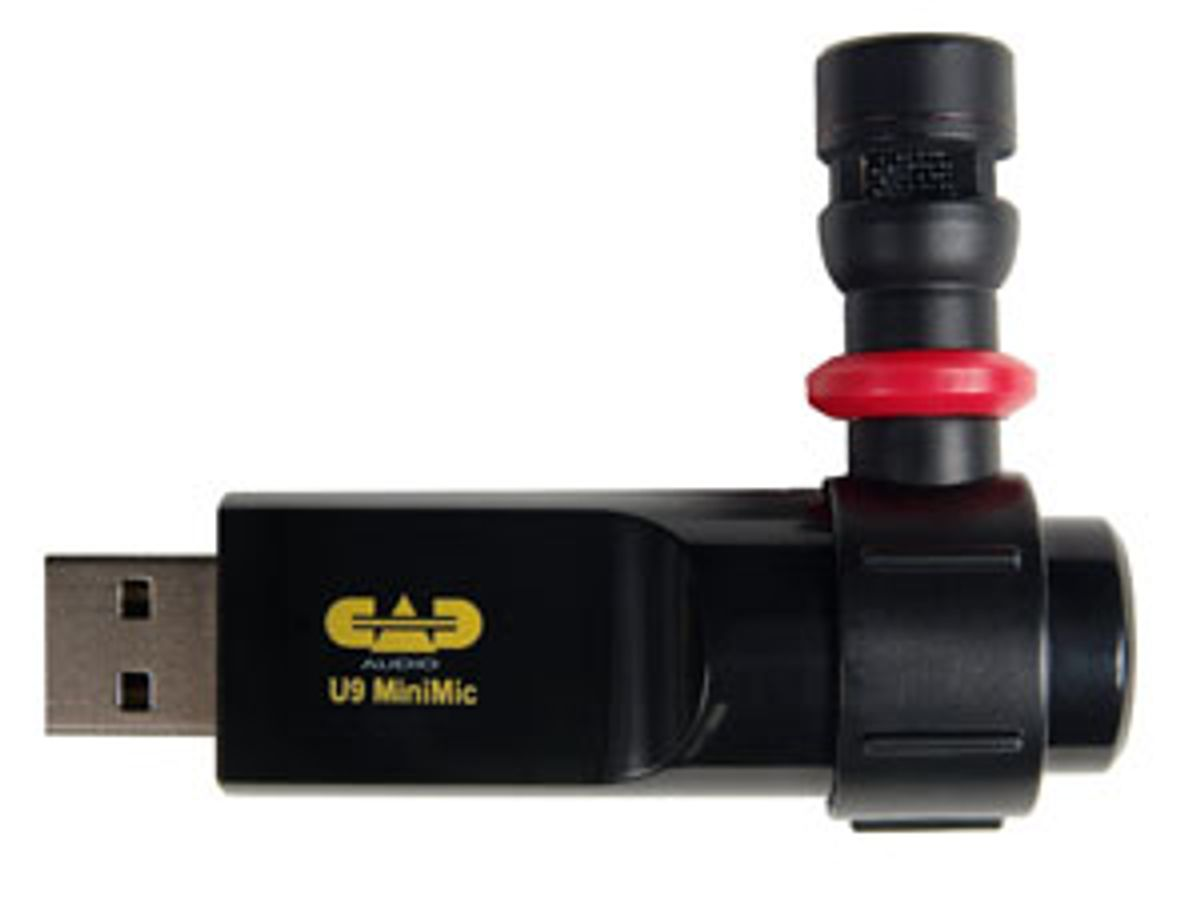 CAD Adds To USB Microphone Line With New U9 MiniMic