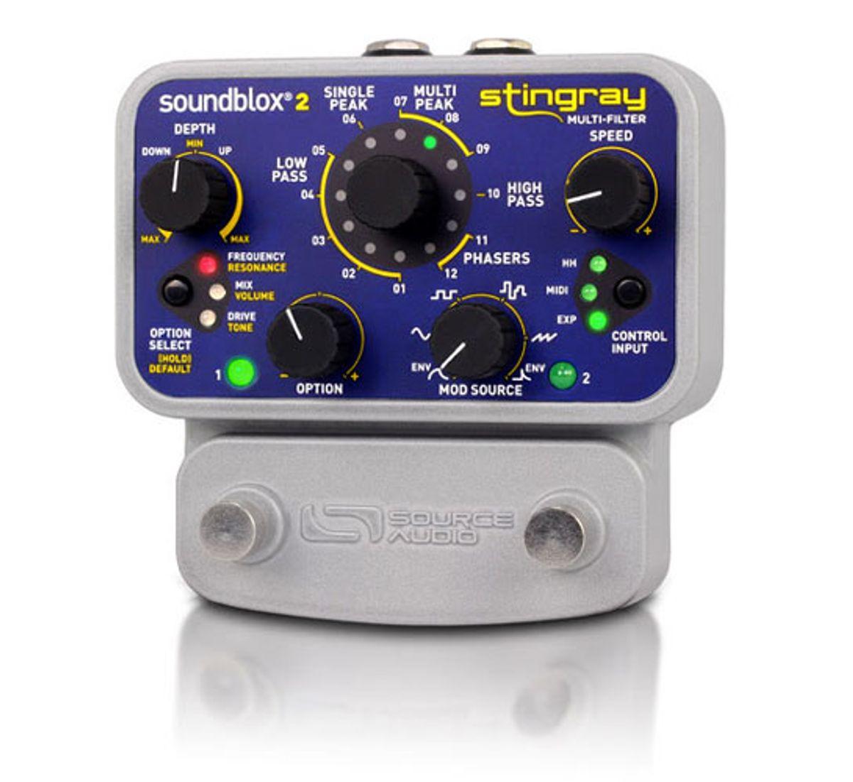 Source Audio Unveils the Soundblox 2 Stingray Multi-Filter