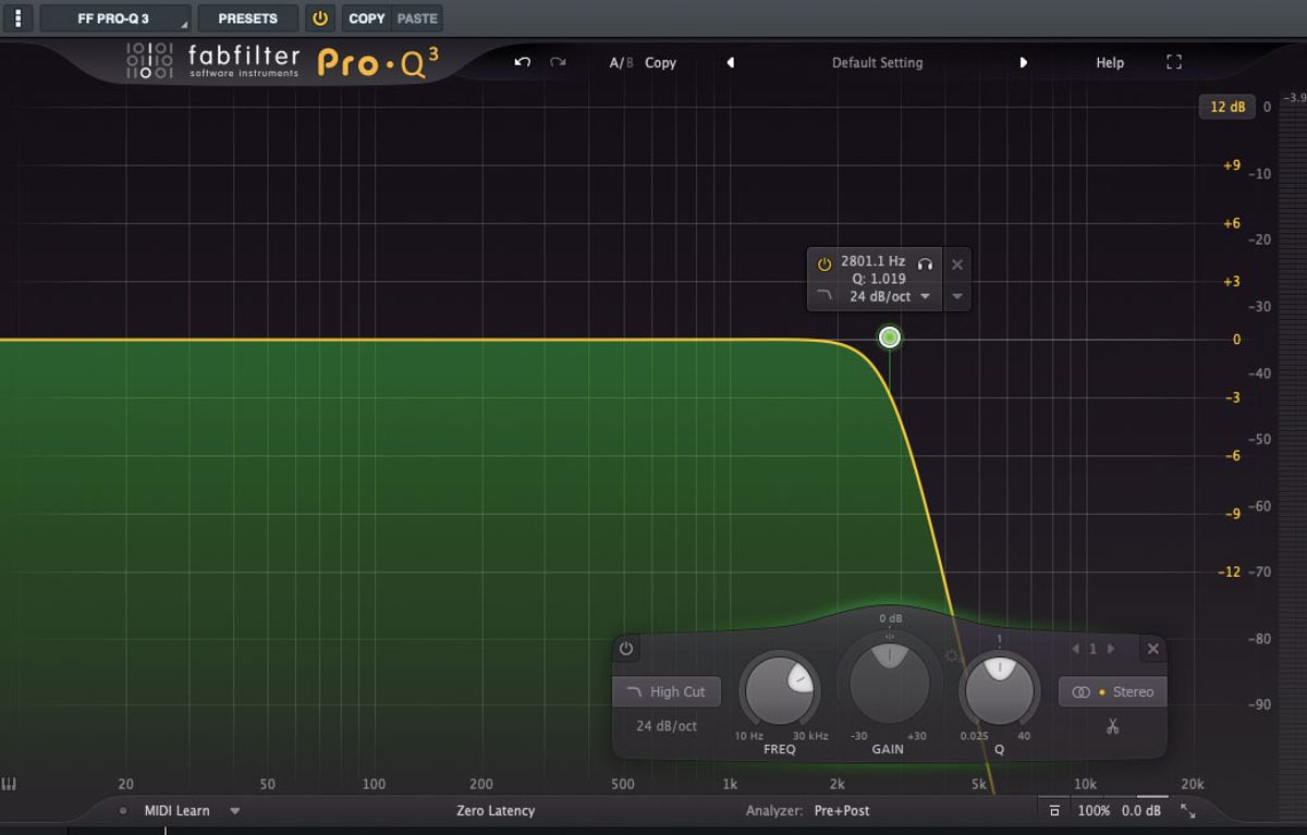 Recording Dojo: A High Five for the Low-Pass Filter