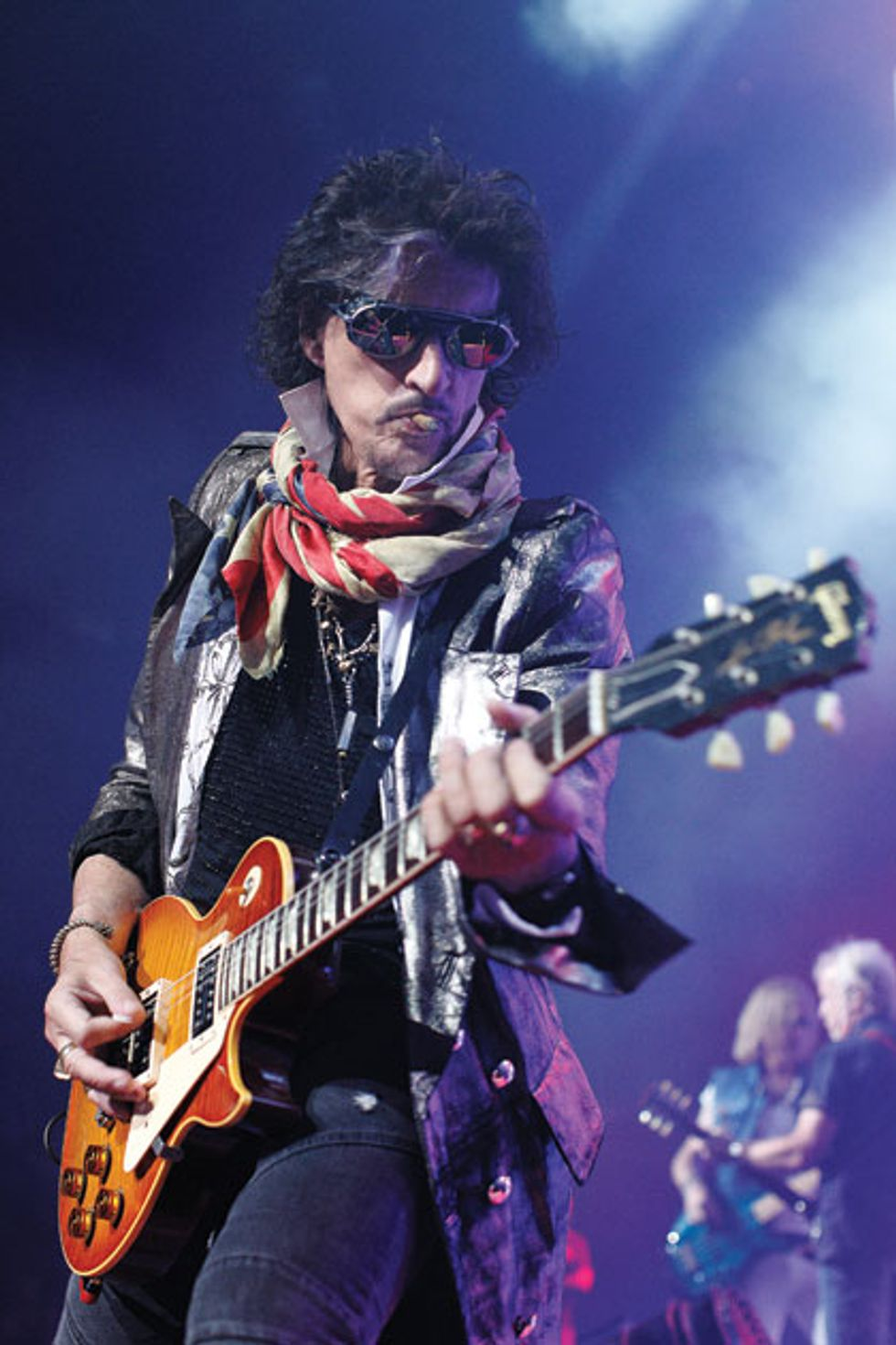 joe perry 43 years of wrenching strings with aerosmith premier guitar. Black Bedroom Furniture Sets. Home Design Ideas