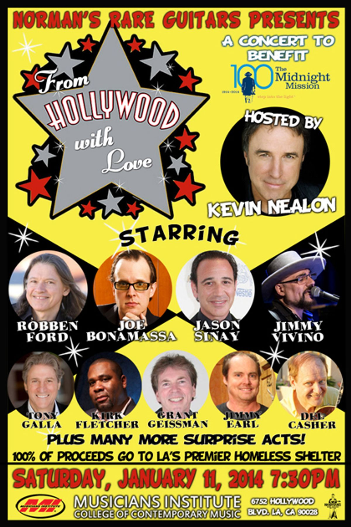 """""""From Hollywood with Love"""" Benefit to Feature Robben Ford, Joe Bonamassa, and Jimmy Vivino"""