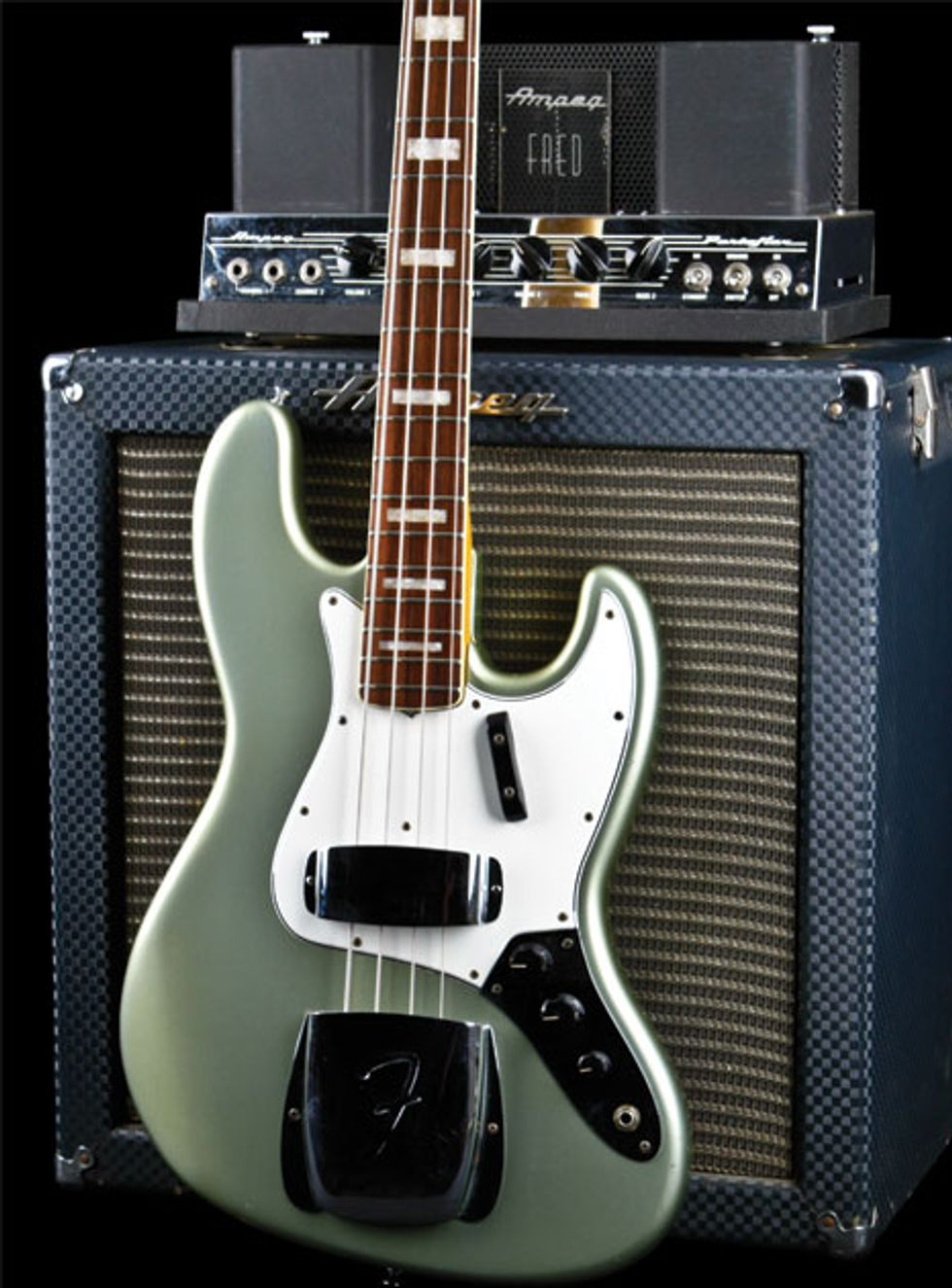 Vintage Vault 1966 Fender Jazz Bass In Firemist Silver