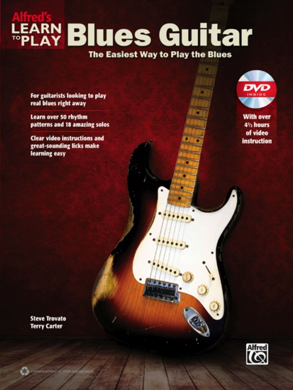 """Alfred Releases """"Learn to Play Blues Guitar"""" Book and DVD"""