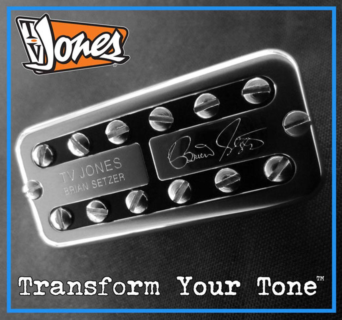 TV Jones Announces Brian Setzer Signature Pickups