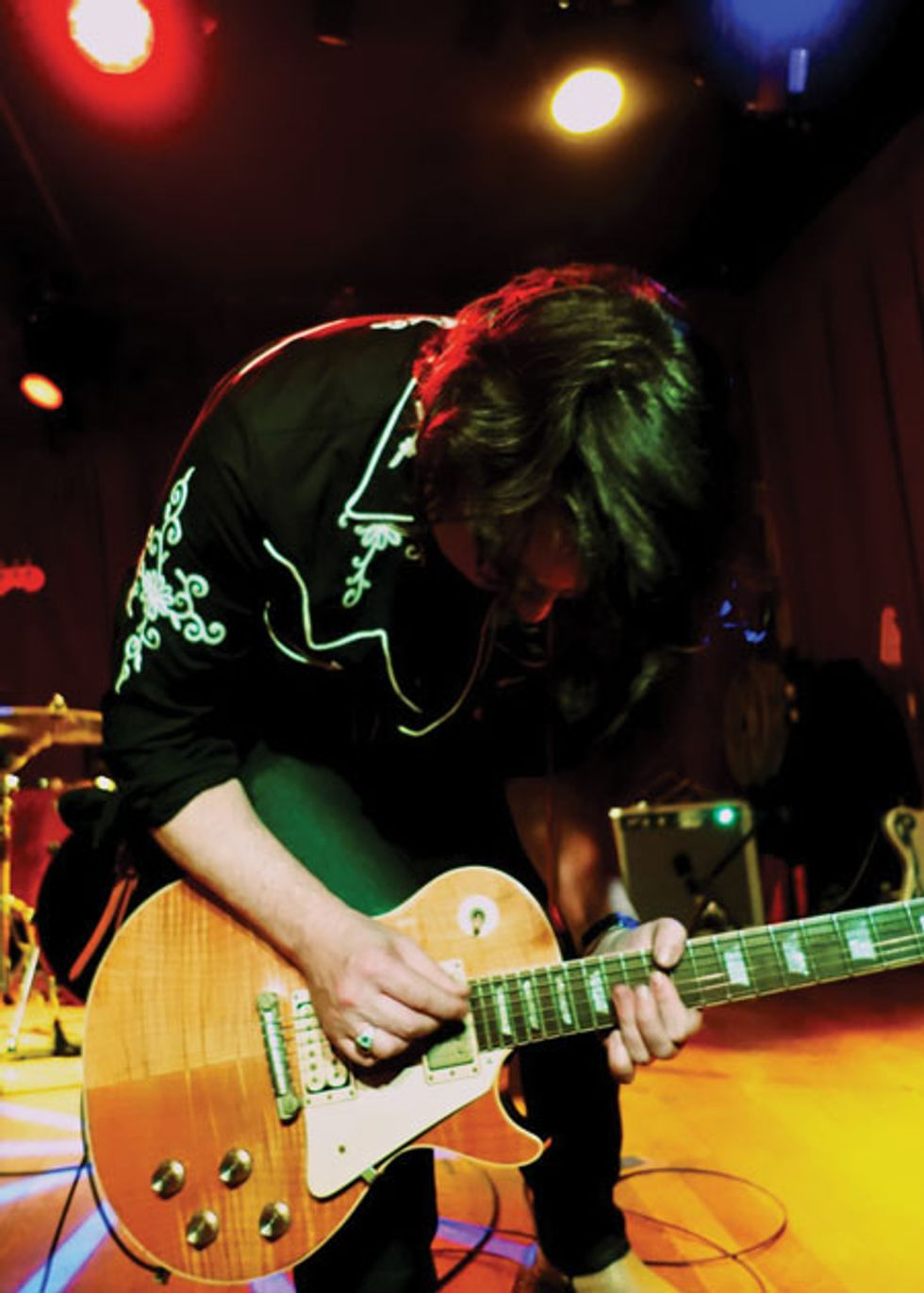 The codependent guitarist the art of being a sideman premier guitar eric ambel plays his chambered 55 style les paul with the del lords at the cbgbs festival in nyc photo by linda rizzo solutioingenieria Gallery