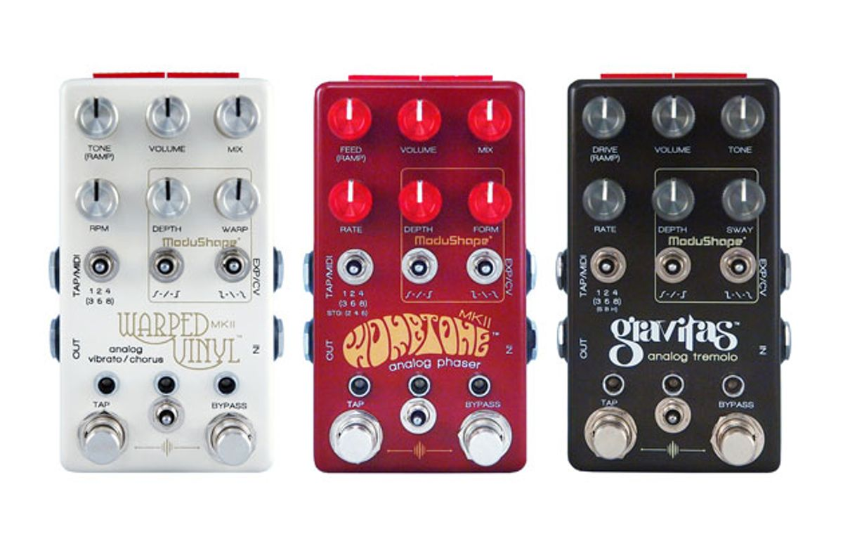 Chase Bliss Audio Unveils the Warped Vinyl mkII, Wombtone mkII, and Gravitas