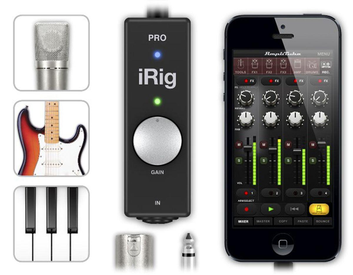 IK Multimedia Releases iRig Pro Interface