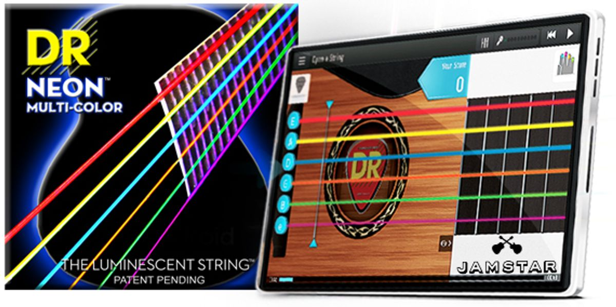 DR Strings Announces NEON Multi-Color Strings and Partnership With Jamstar