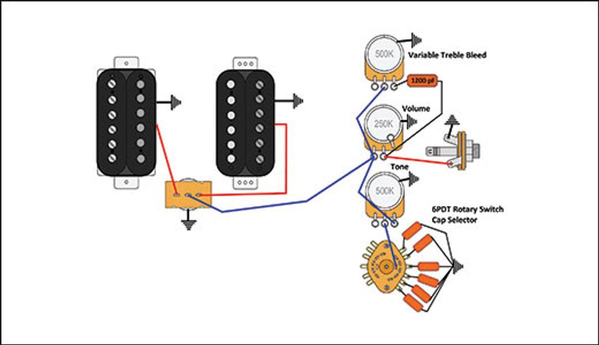 Mod Garage: The Quad-Pot, Dual-Humbucker Wiring of Doom