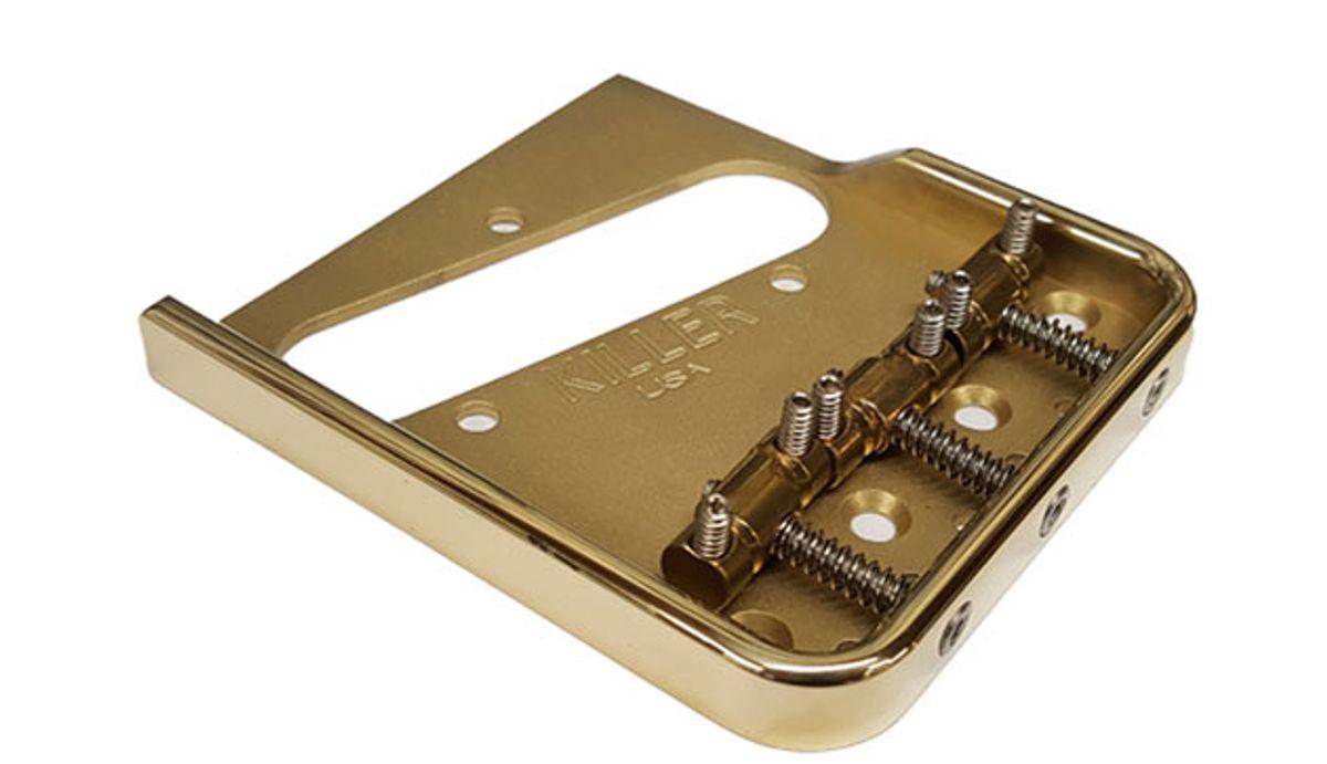 Killer Guitar Components Introduces Brass Vintage Telecaster Bridge