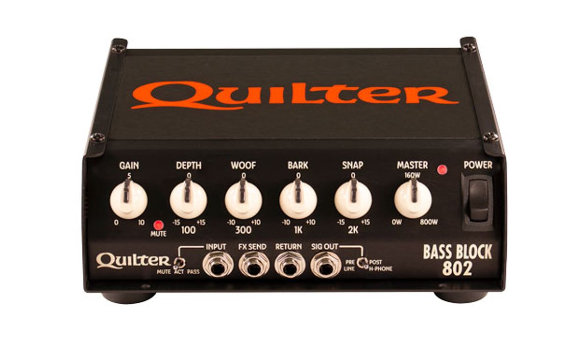 Quilter Labs Expands Bass Offerings with Bass Block 802