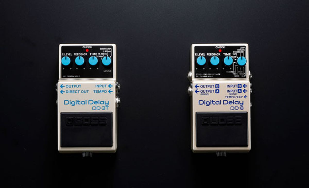 Boss Unveils the DD-3T and DD-8 Delays