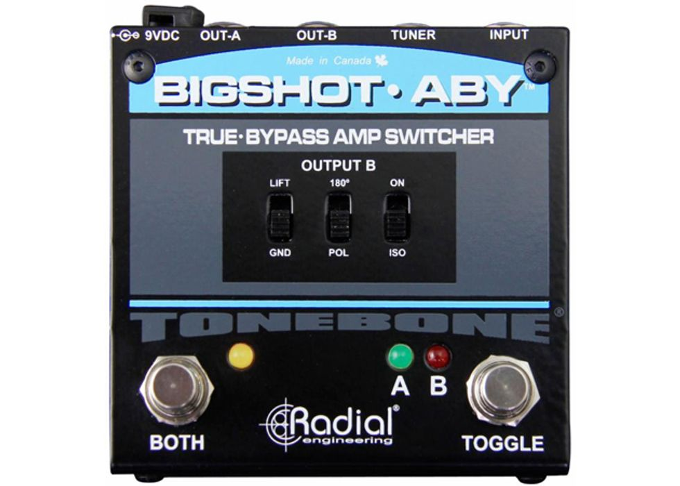 radial engineering introduces the tonebone bigshot aby premier guitar. Black Bedroom Furniture Sets. Home Design Ideas