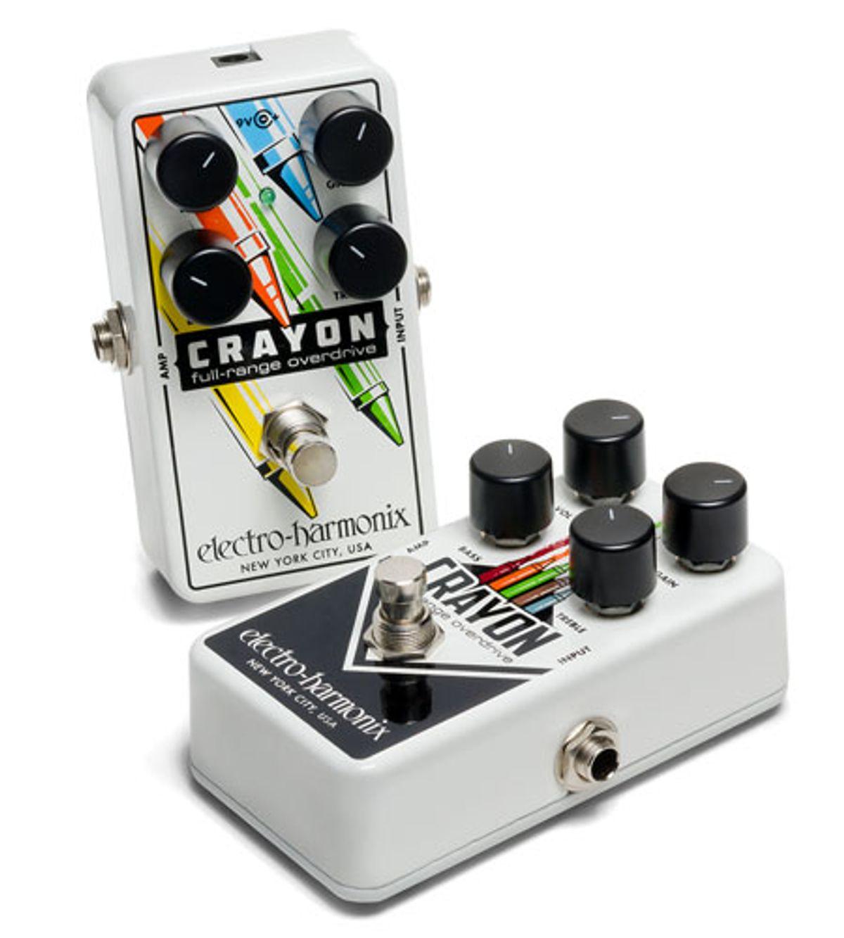 Electro-Harmonix Releases the Crayon Full-Range Overdrive