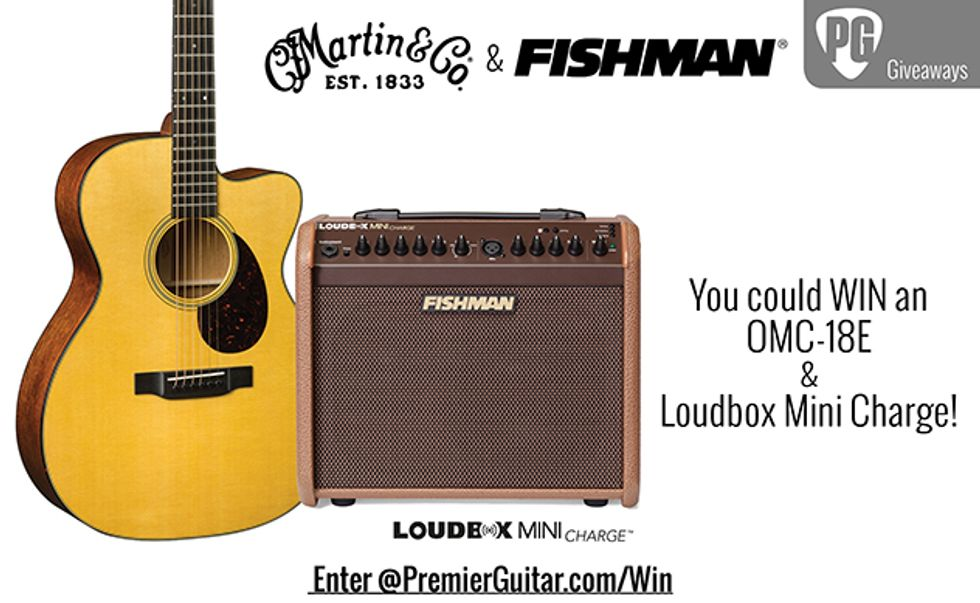 Martin OMC-18E & Fishman Loudbox Mini Charge