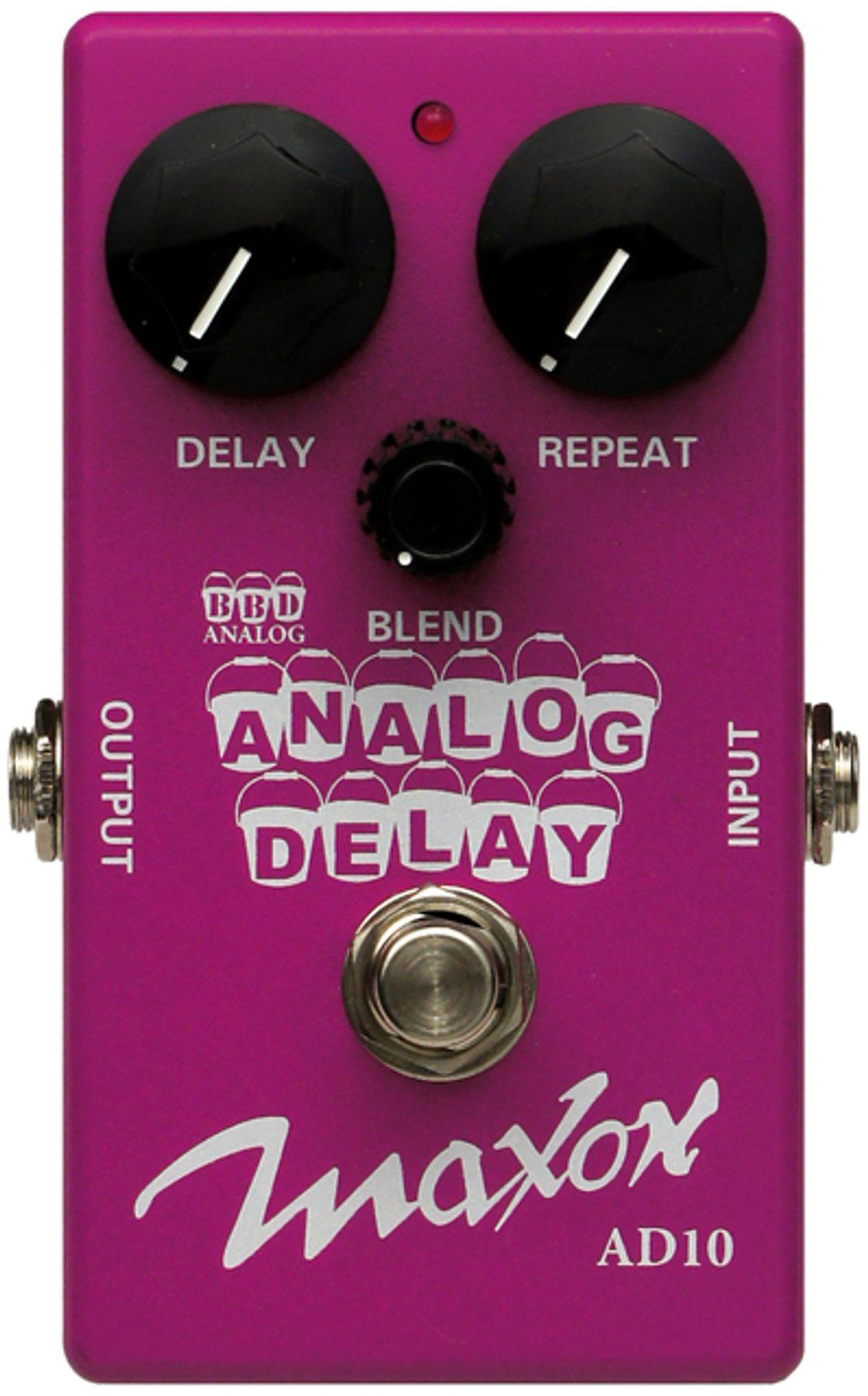 Godlyke Announces Maxon AD10 Analog Delay and ASC10 Ambient Stereo Chorus