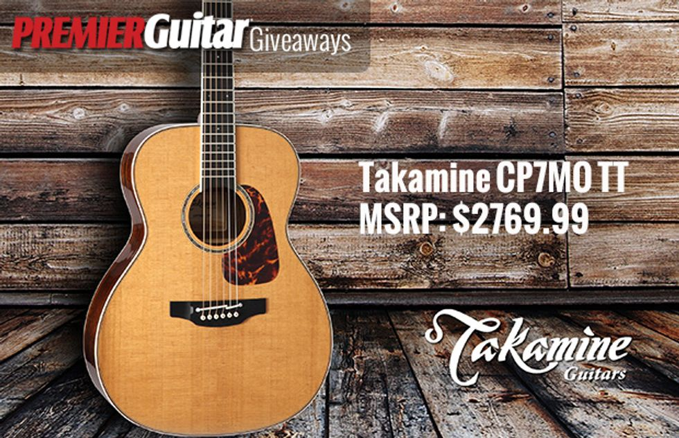 PG Giveaways: Takamine CP7MO TT