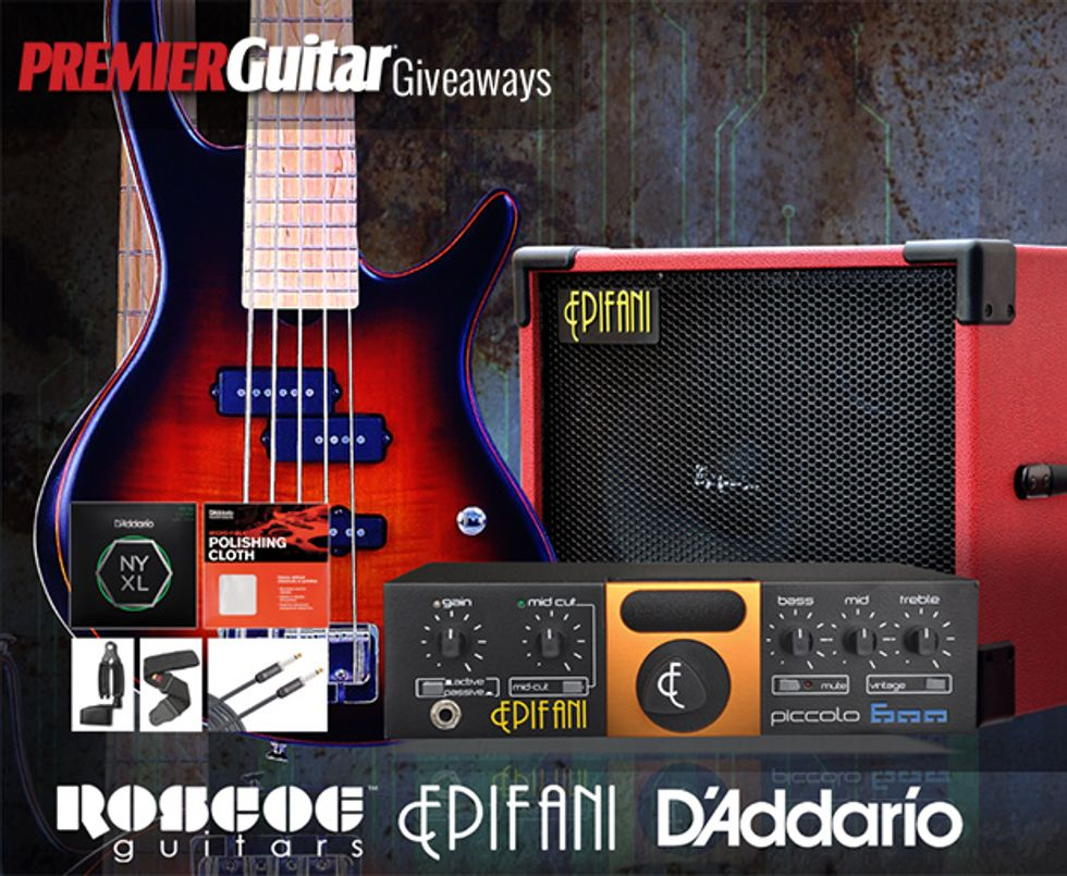 PG Giveaways: James Cook Bass Rig from Roscoe Guitars!