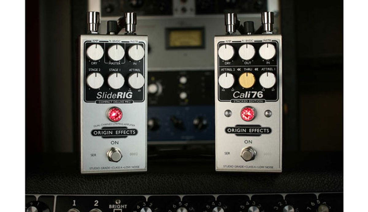 Origin Effects Unveils Two New Dual-Chained Compressor Pedals