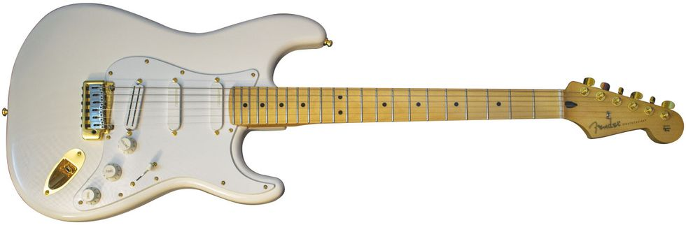 Reader Guitar of the Month: Gold-on-White Strat