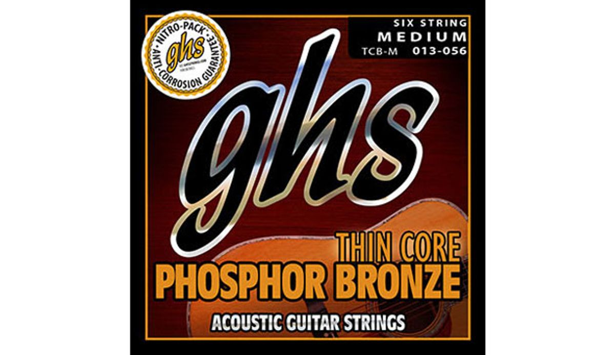 GHS Launches Thin Core Phosphor Bronze Strings