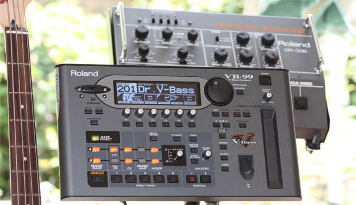 Side by Side: Roland VB-99 and GR-33B Bass Synthesizers