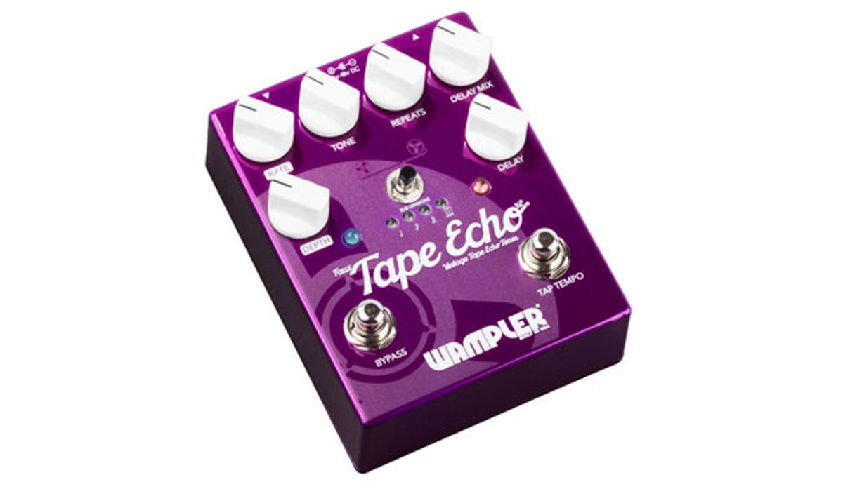 Wampler Pedals Releases the Faux Tape Echo V2, Pinnacle Deluxe V2, and Mini Ego Compressor
