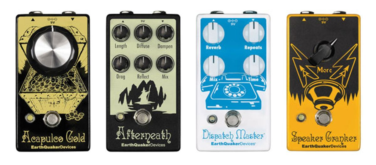 EarthQuaker Devices Unveils V2 Updates of Dispatch Master, Speaker Cranker, Acapulco Gold, and Afterneath