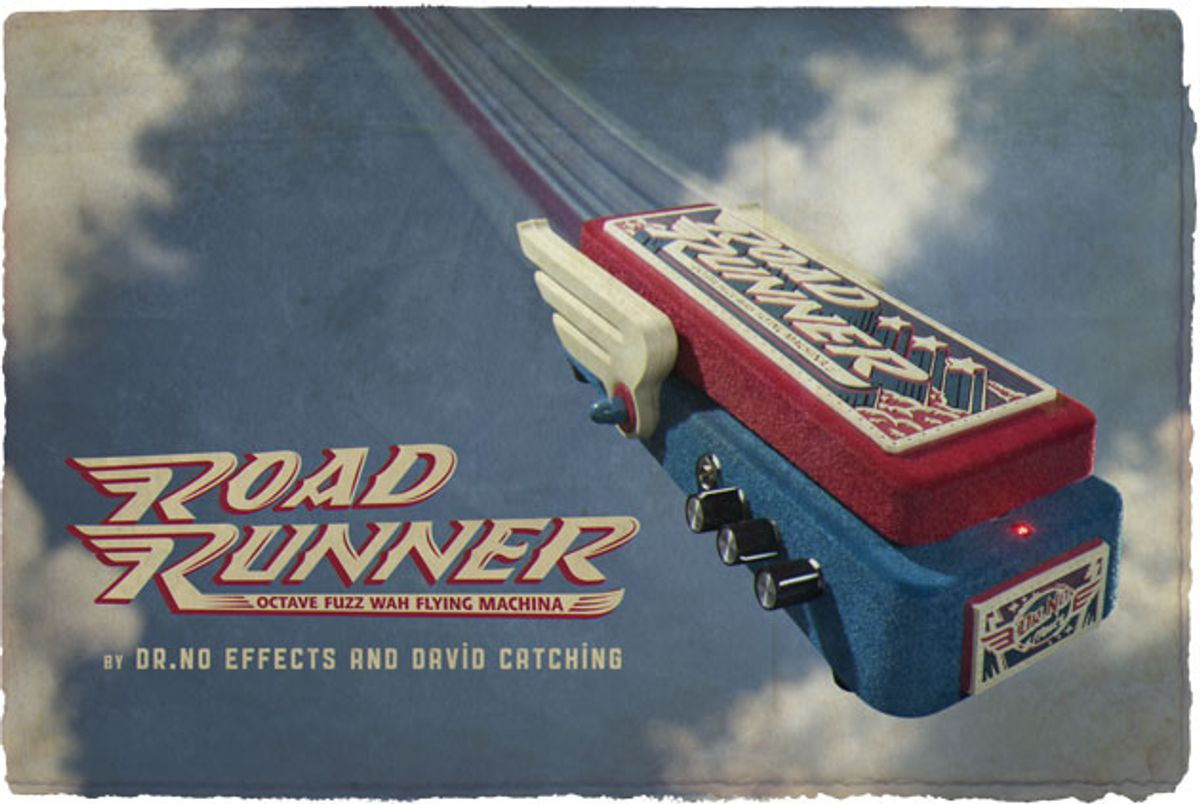 Dr. No Effects Introduces the RoadRunner Octave Fuzz Wah Flying Machina