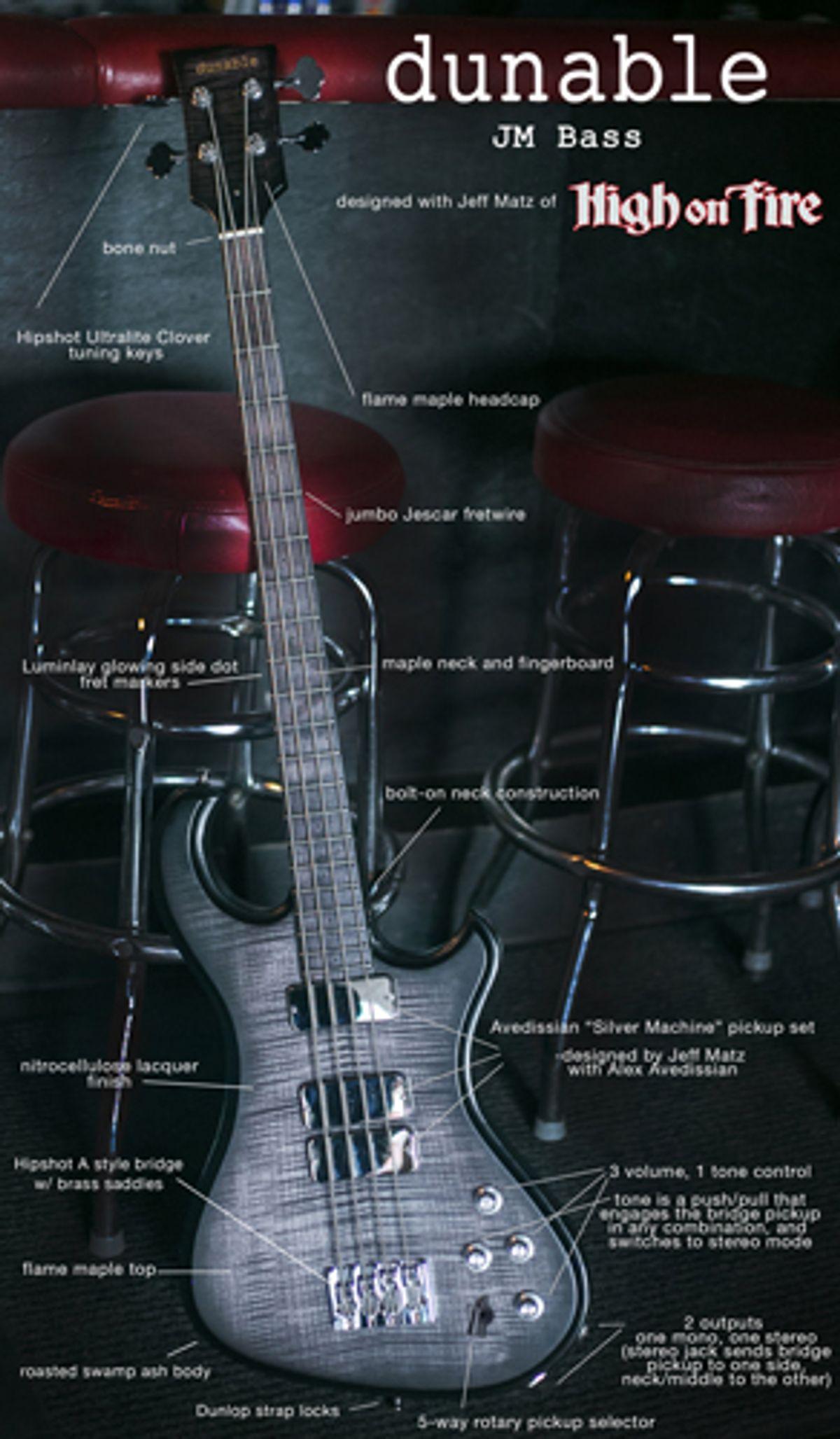 Dunable Guitars Announces the JM Bass