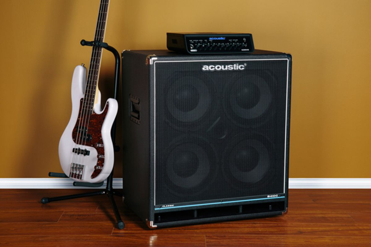 Acoustic Amplification Introduces the B410C 4x10 Cab