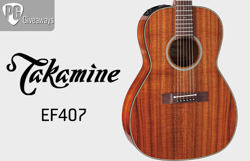 You could win a Takamine EF407!